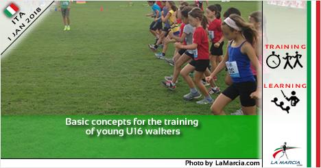 Concetti base per l'allenamento dei giovani marciatori U16