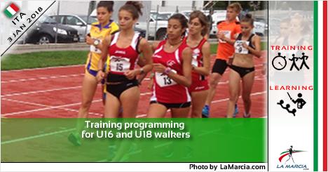Programmazione dell'allenamento per marciatori U16 e U18