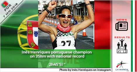 """Inês Henriques campionessa portoghese sui 35km con record nazionale: 2h45'51"""""""