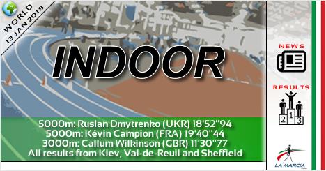 """Ultimi risultati indoor: Dmytrenko il migliore con 18'52"""" sui 5000m di Kiev"""