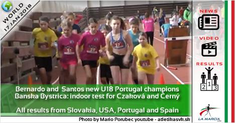 Bernardo e Santos nuovi campioni portoghesi U18. Banska Bystrica: test indoor per Czaková e Černý