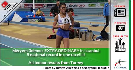 Meryem Bekmez STRAORDINARIA ad Istanbul. 5 record nazionali in una gara!!!!!