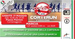 Sabato prossimo 4^ edizione della CORTERUN. In programma la marcia