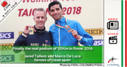 Finally the real podium of 50Km in Rome 2016 (VIDEO). Jared Tallent and Marco De Luca heroes of clean sport