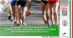Il 28 luglio gare giovanili di marcia e corsa al IX Trofeo Collina Dragonara