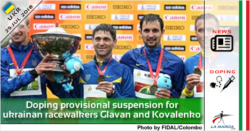 Doping: provisional suspension for ukrainan racewalkers Glavan and Kovalenko