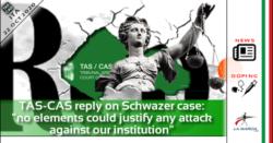 TAS di Losanna risponde alle false accuse di Repubblica sul caso Schwazer